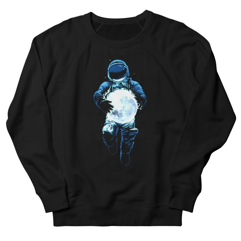 BRING THE MOON Women's French Terry Sweatshirt by ES427's Artist Shop