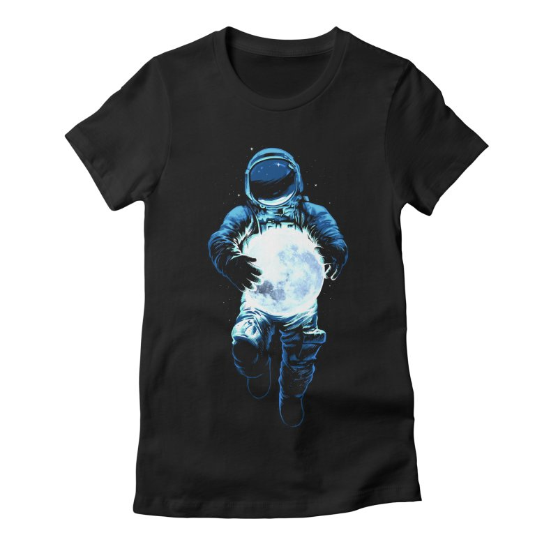 BRING THE MOON Women's Fitted T-Shirt by ES427's Artist Shop