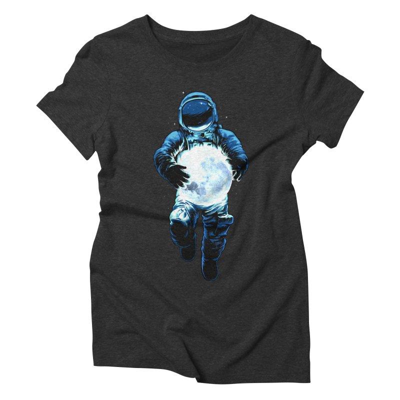 BRING THE MOON Women's Triblend T-Shirt by ES427's Artist Shop