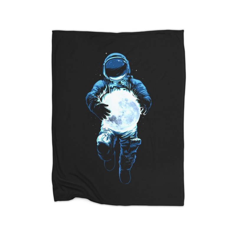 BRING THE MOON Home Fleece Blanket Blanket by ES427's Artist Shop