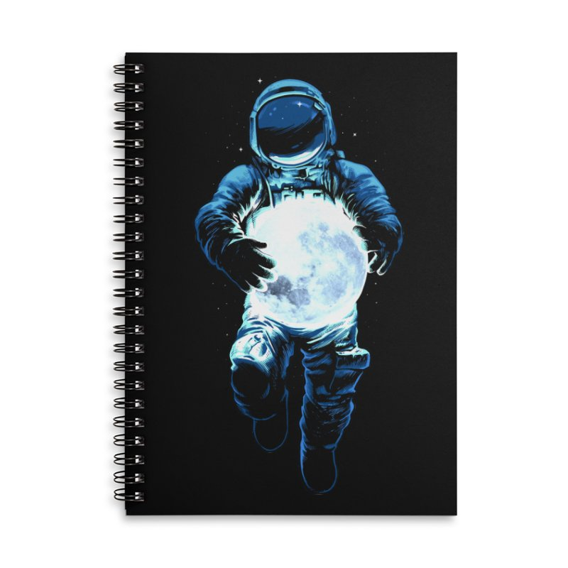 BRING THE MOON Accessories Lined Spiral Notebook by ES427's Artist Shop