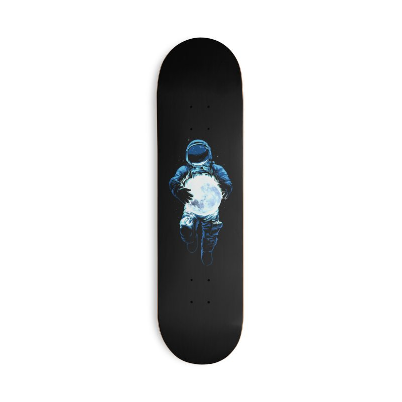 BRING THE MOON Accessories Deck Only Skateboard by ES427's Artist Shop