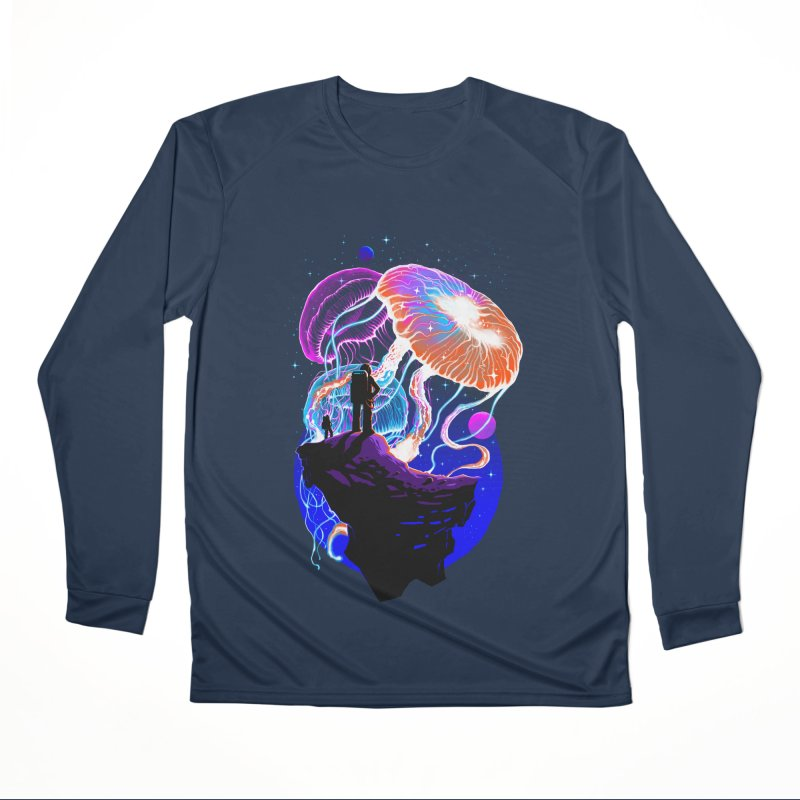 Exploration of the jellyfish planets Men's Performance Longsleeve T-Shirt by ES427's Artist Shop