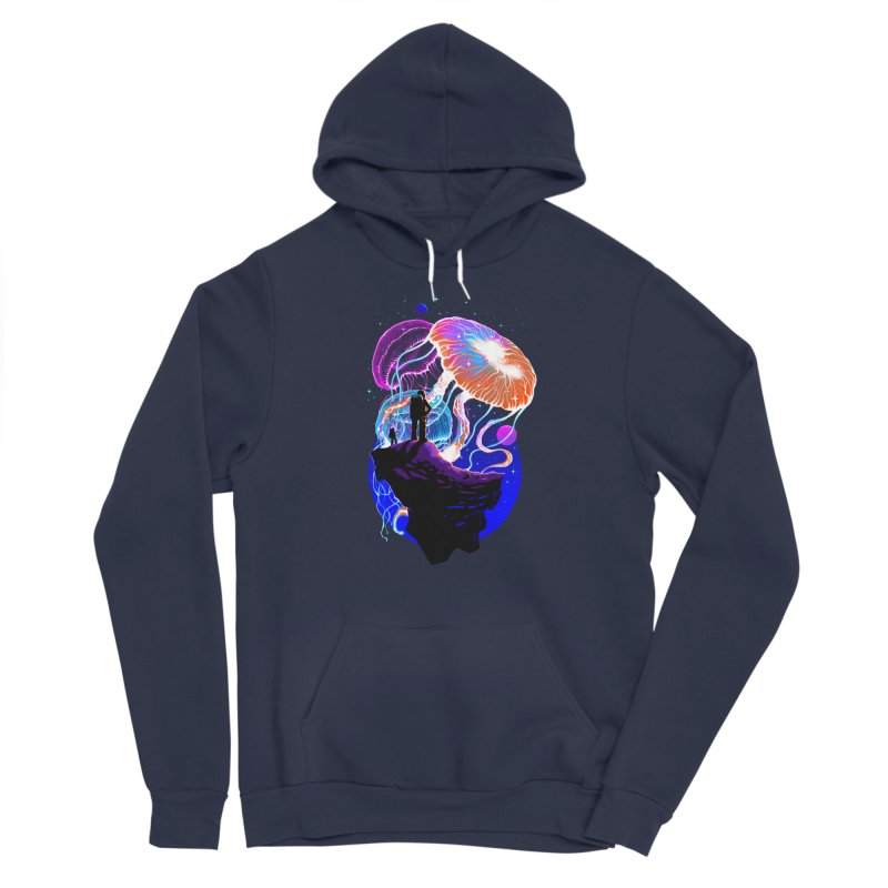 Exploration of the jellyfish planets Women's Sponge Fleece Pullover Hoody by ES427's Artist Shop