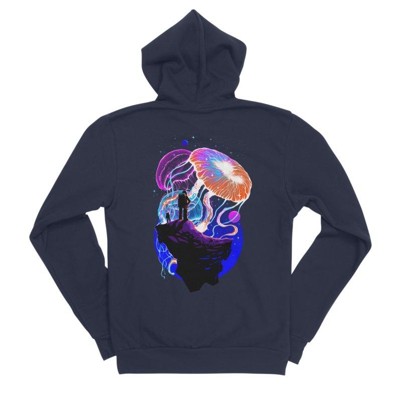 Exploration of the jellyfish planets Women's Sponge Fleece Zip-Up Hoody by ES427's Artist Shop
