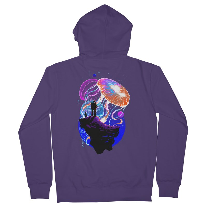 Exploration of the jellyfish planets Women's French Terry Zip-Up Hoody by ES427's Artist Shop