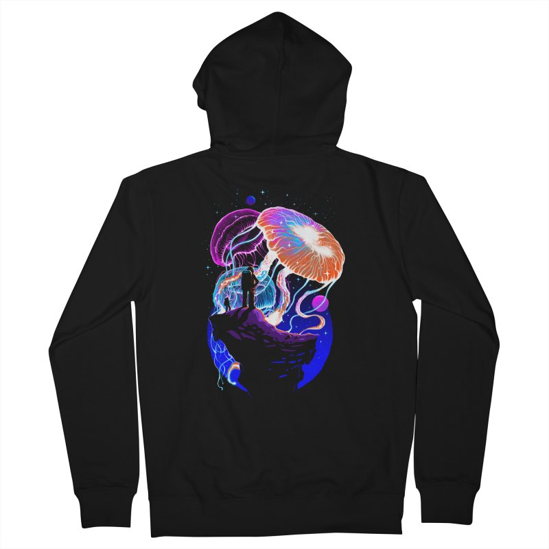 Exploration of the jellyfish planets Men's French Terry Zip-Up Hoody by ES427's Artist Shop