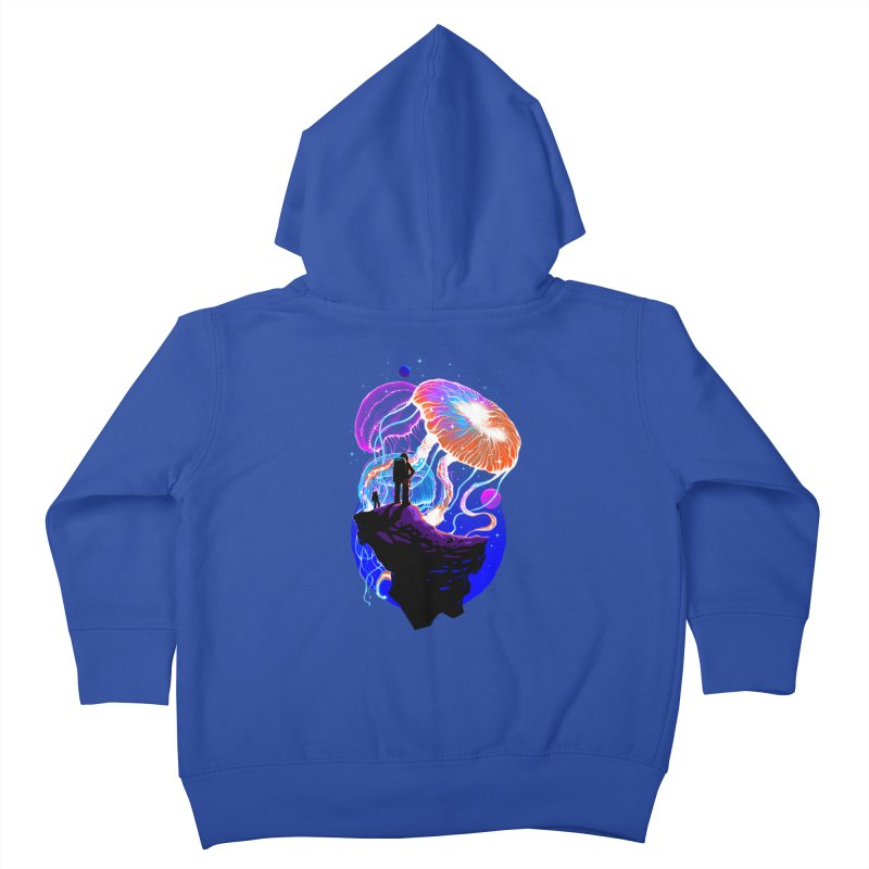 Exploration of the jellyfish planets Kids Toddler Zip-Up Hoody by ES427's Artist Shop