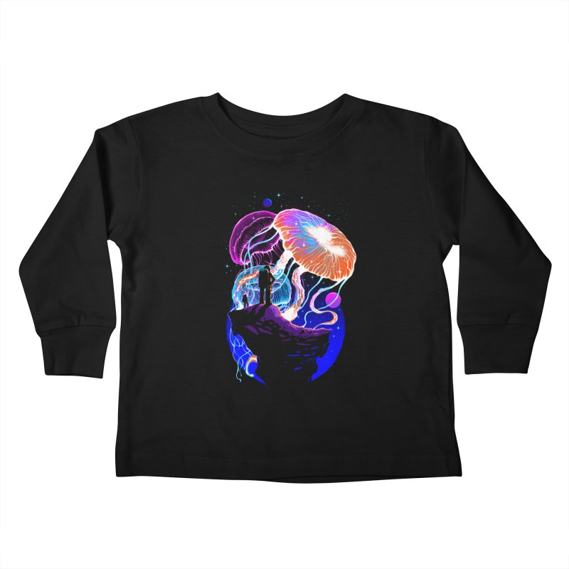 Exploration of the jellyfish planets Kids Toddler Longsleeve T-Shirt by ES427's Artist Shop