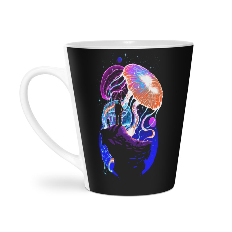 Exploration of the jellyfish planets Accessories Latte Mug by ES427's Artist Shop