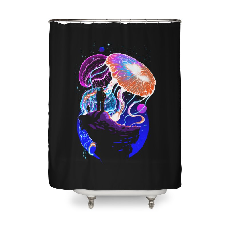 Exploration of the jellyfish planets Home Shower Curtain by ES427's Artist Shop