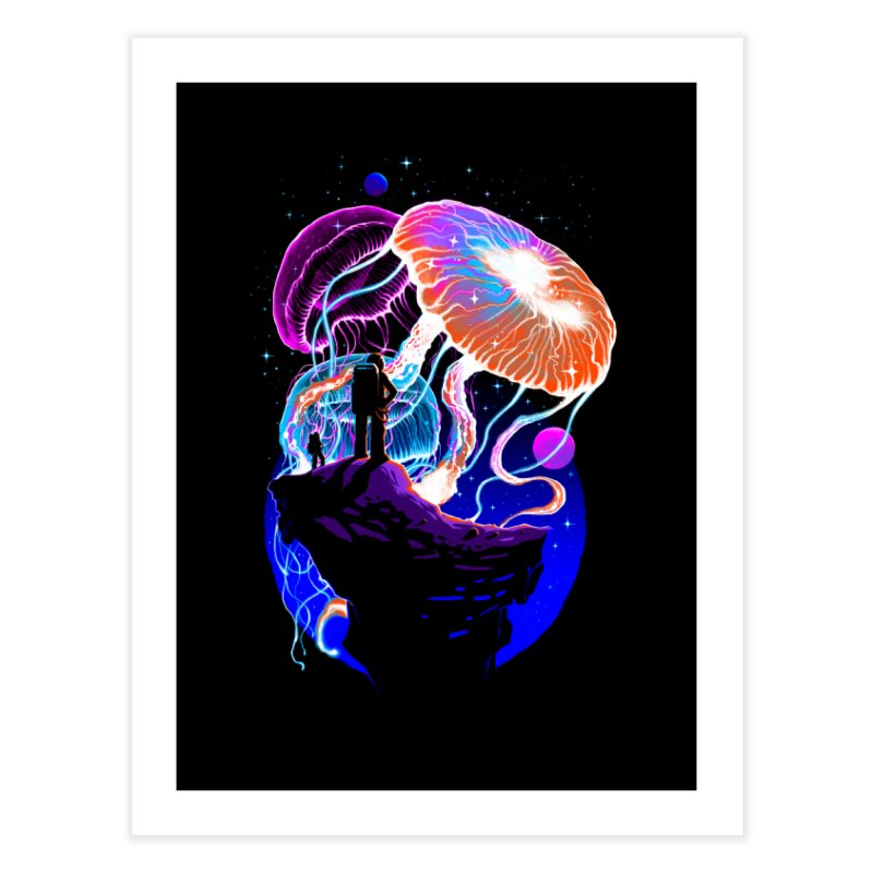 Exploration of the jellyfish planets Home Fine Art Print by ES427's Artist Shop