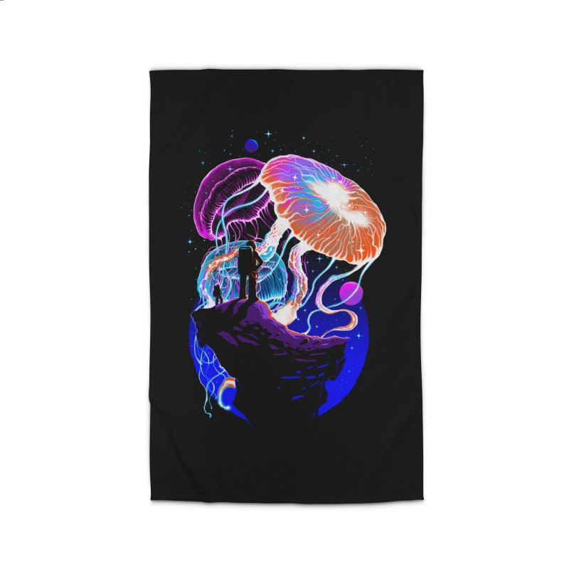 Exploration of the jellyfish planets Home Rug by ES427's Artist Shop
