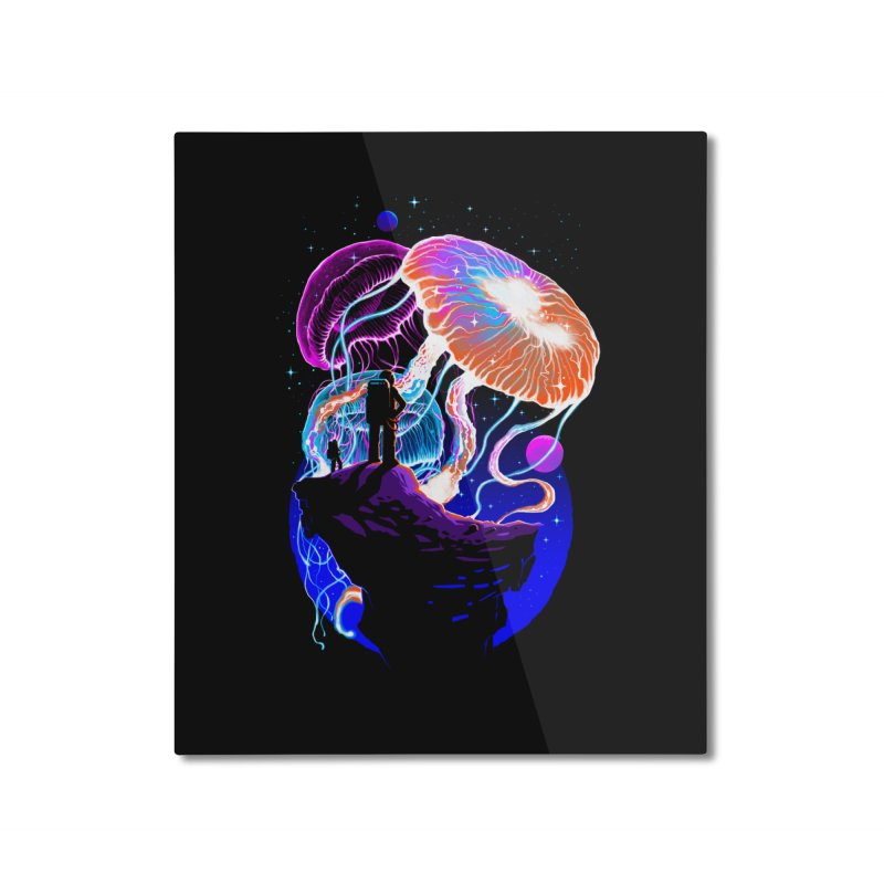 Exploration of the jellyfish planets Home Mounted Aluminum Print by ES427's Artist Shop