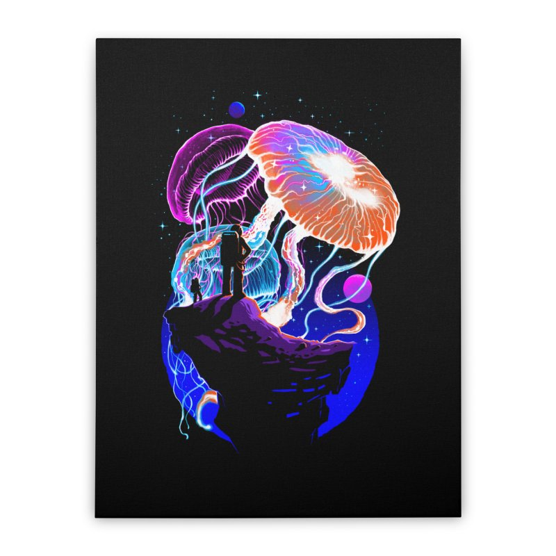 Exploration of the jellyfish planets Home Stretched Canvas by ES427's Artist Shop