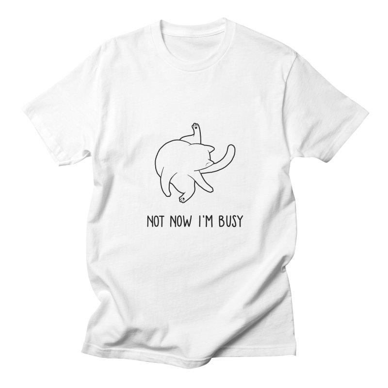 BUSYCAT in Men's T-shirt White by ES427's Artist Shop