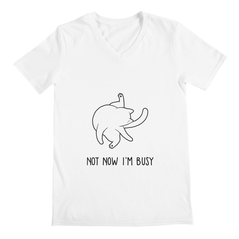 BUSYCAT Men's V-Neck by ES427's Artist Shop