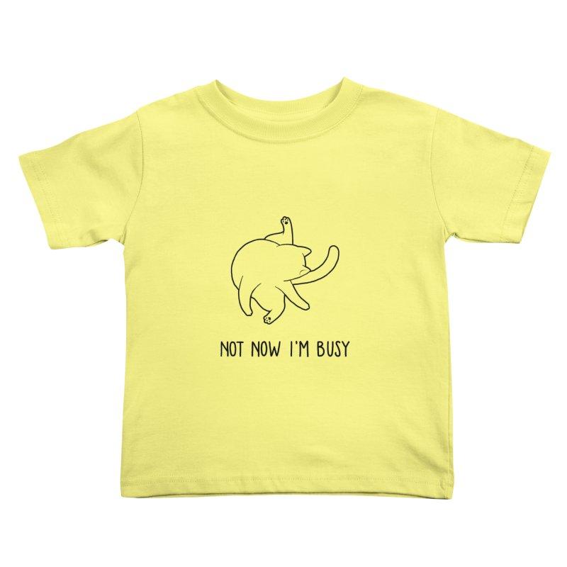 BUSYCAT Kids Toddler T-Shirt by ES427's Artist Shop