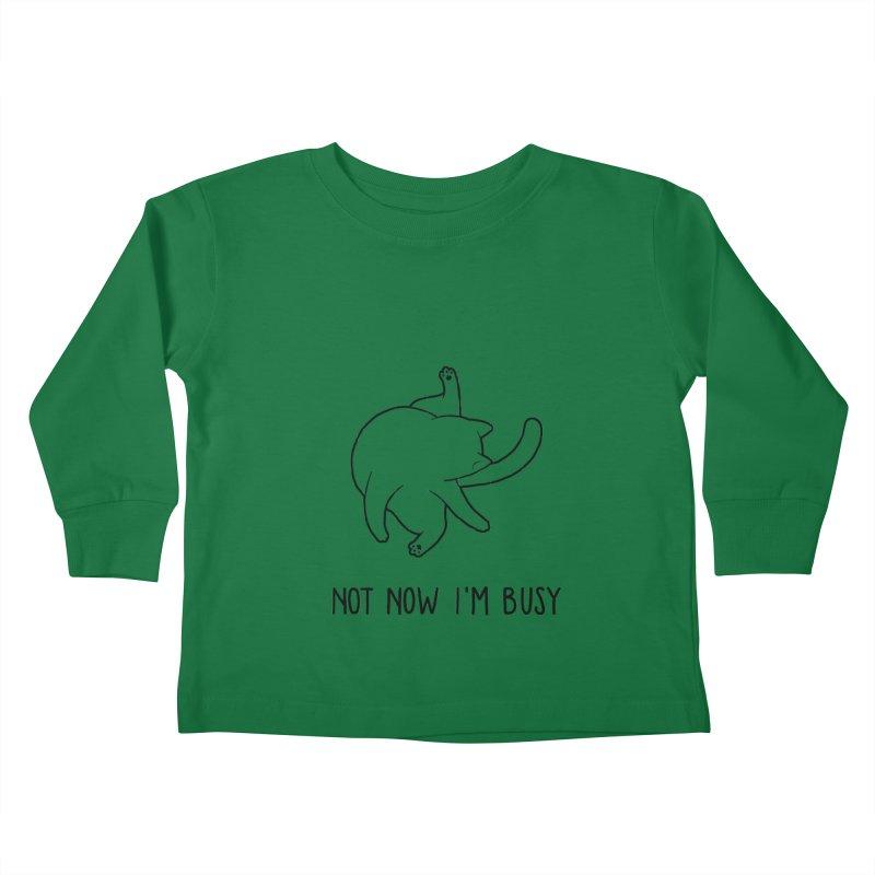 BUSYCAT Kids Toddler Longsleeve T-Shirt by ES427's Artist Shop
