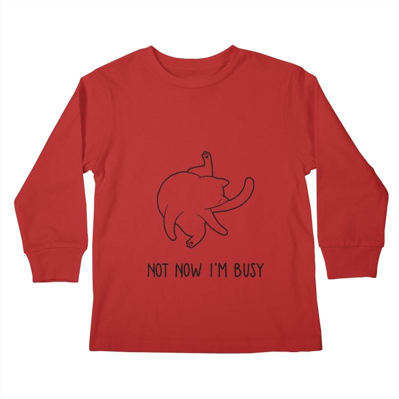 BUSYCAT Kids Longsleeve T-Shirt by ES427's Artist Shop