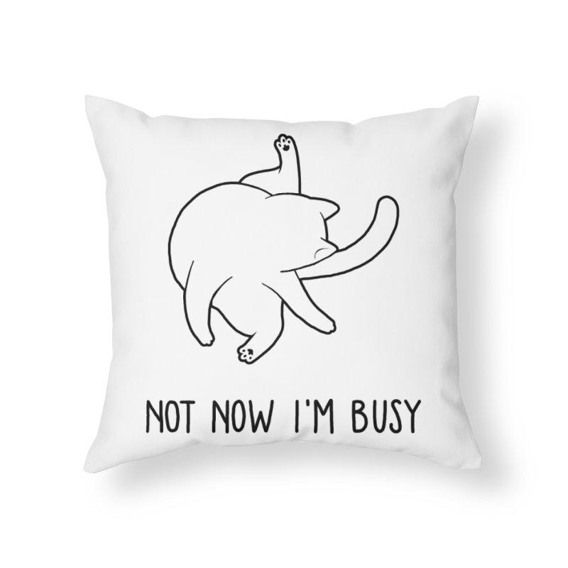 BUSYCAT Home Throw Pillow by ES427's Artist Shop
