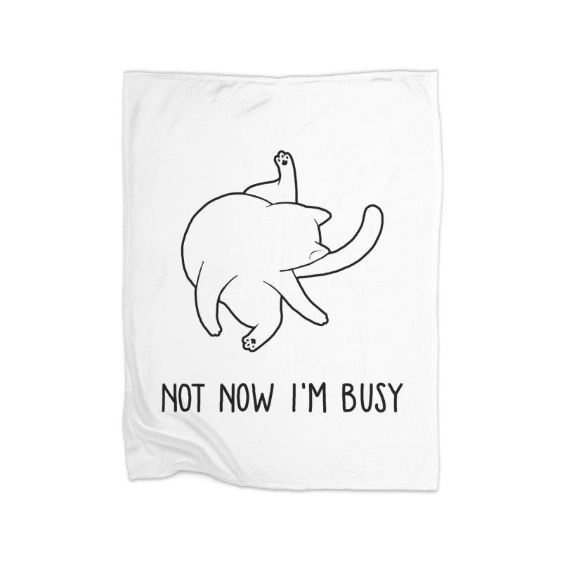 BUSYCAT Home Blanket by ES427's Artist Shop
