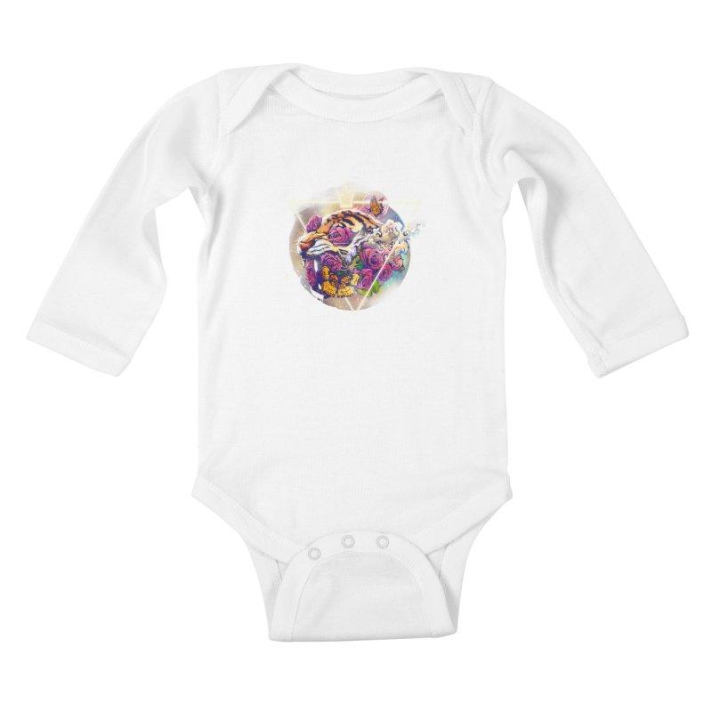 Tiger Kids Baby Longsleeve Bodysuit by ES427's Artist Shop
