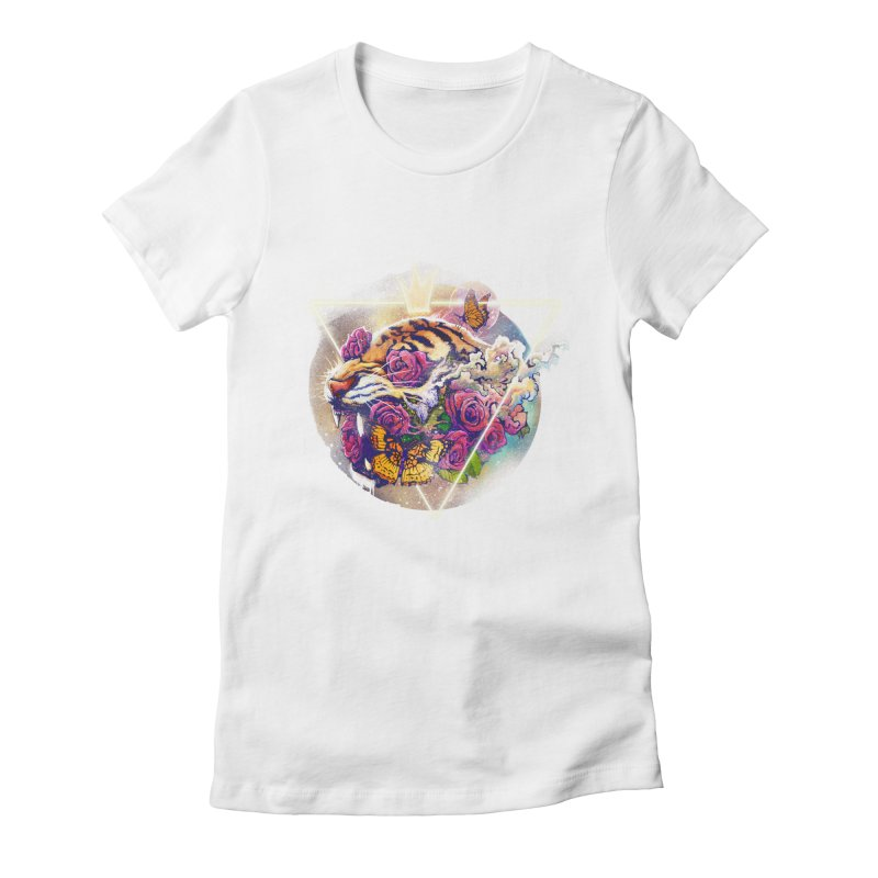Tiger Women's Fitted T-Shirt by ES427's Artist Shop