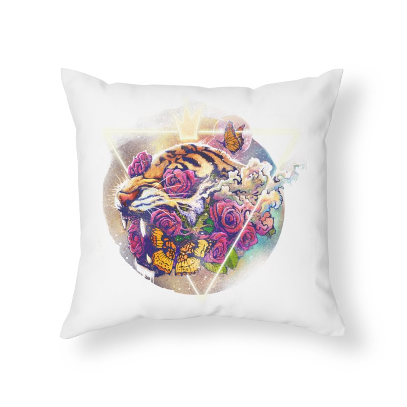 Tiger Home Throw Pillow by ES427's Artist Shop