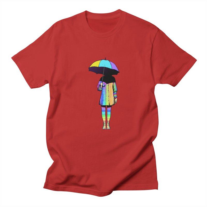 Neon Girl Men's T-shirt by ES427's Artist Shop