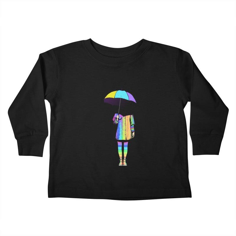 Neon Girl Kids Toddler Longsleeve T-Shirt by ES427's Artist Shop