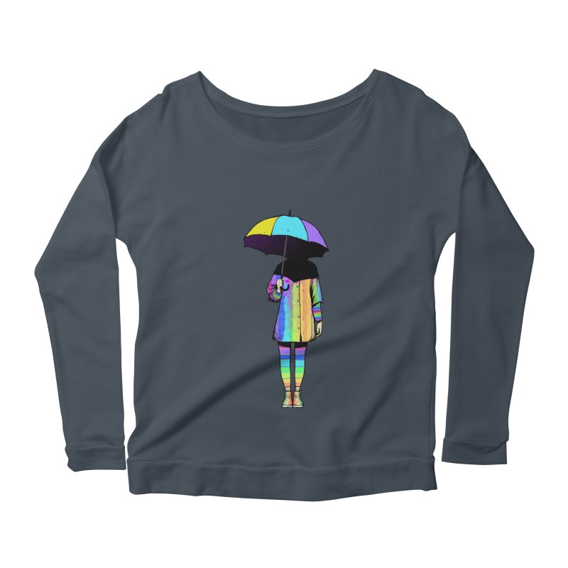 Neon Girl Women's Longsleeve Scoopneck  by ES427's Artist Shop
