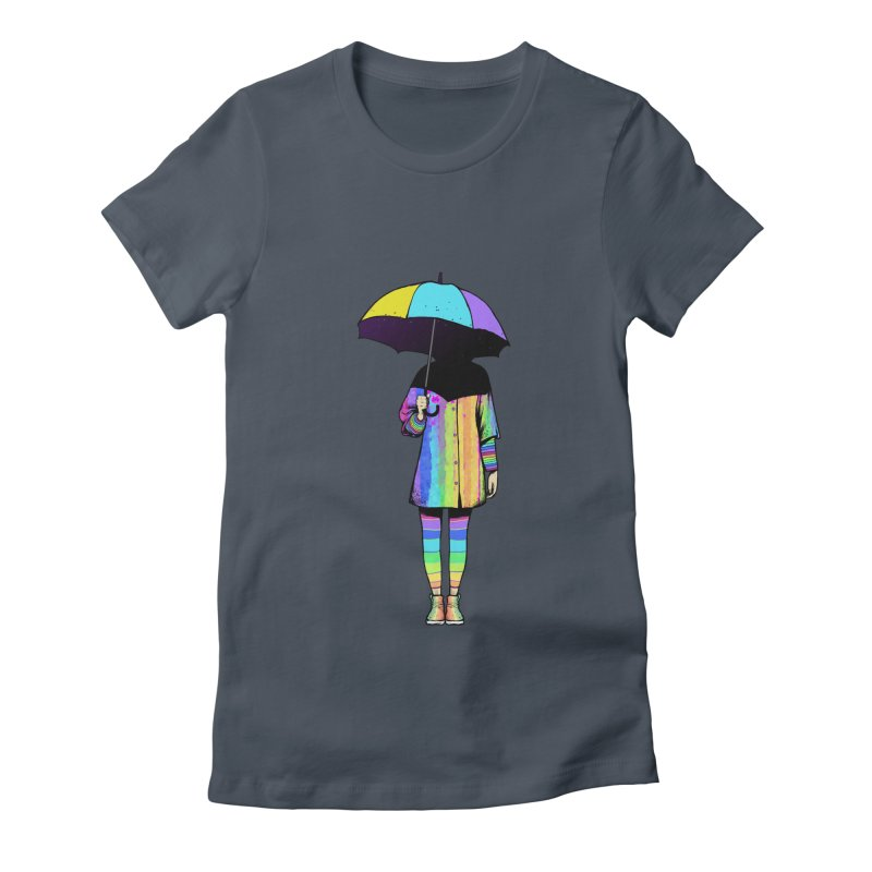 Neon Girl Women's Fitted T-Shirt by ES427's Artist Shop