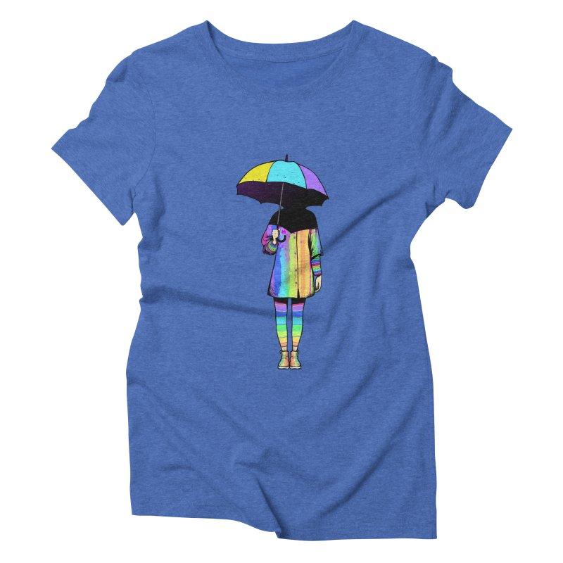 Neon Girl Women's Triblend T-shirt by ES427's Artist Shop