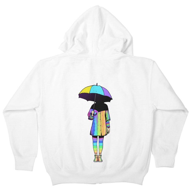 Neon Girl Kids Zip-Up Hoody by ES427's Artist Shop