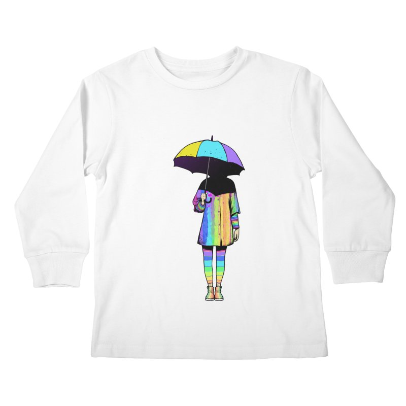 Neon Girl Kids Longsleeve T-Shirt by ES427's Artist Shop