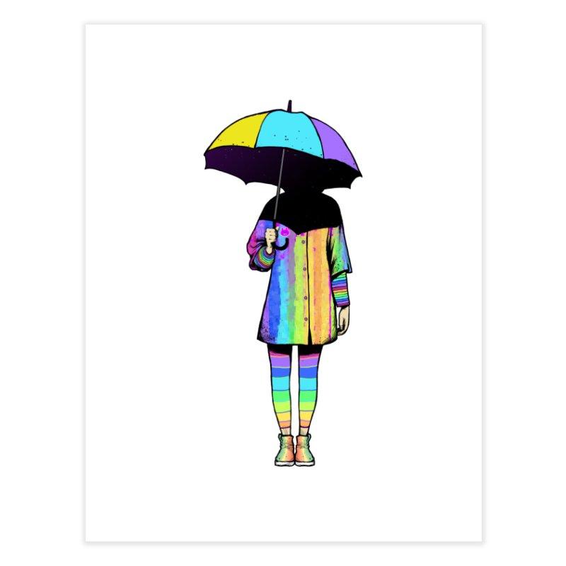 Neon Girl Home Fine Art Print by ES427's Artist Shop