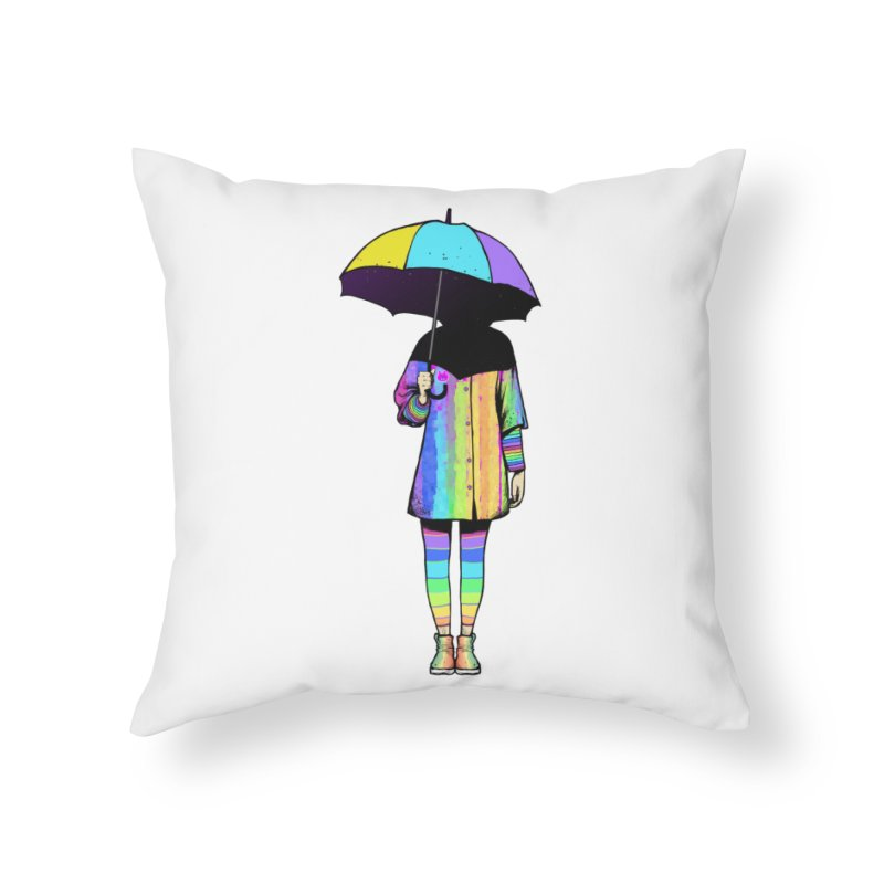Neon Girl Home Throw Pillow by ES427's Artist Shop