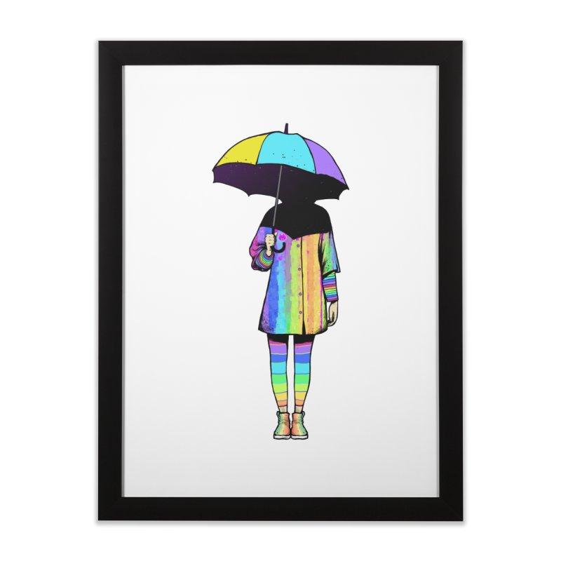 Neon Girl Home Framed Fine Art Print by ES427's Artist Shop