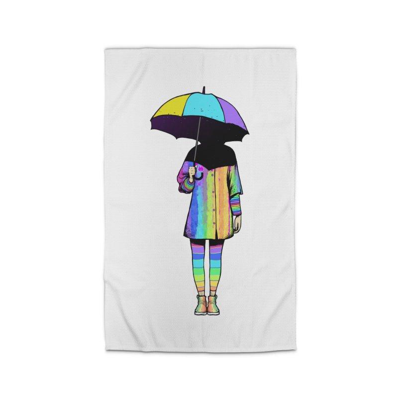 Neon Girl Home Rug by ES427's Artist Shop