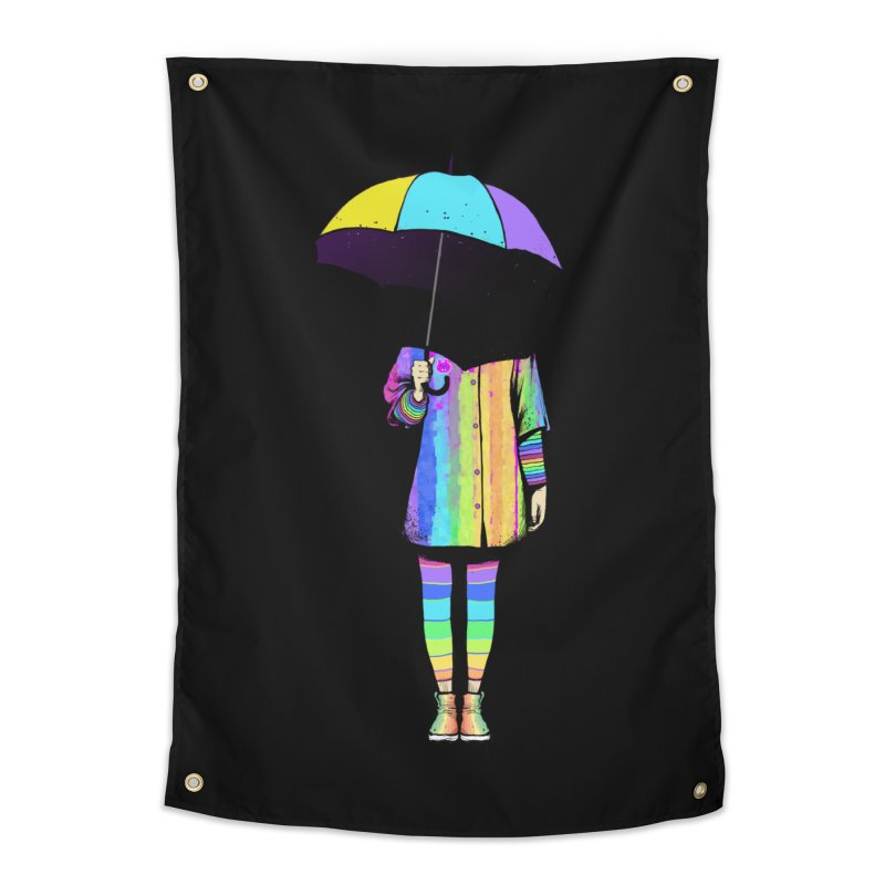 Neon Girl Home Tapestry by ES427's Artist Shop