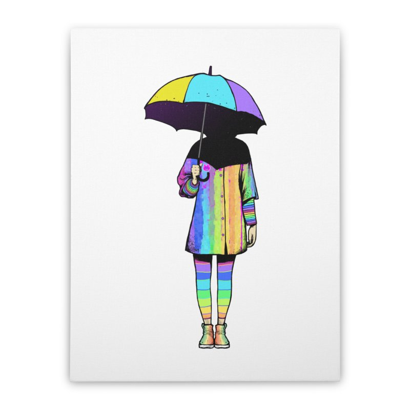 Neon Girl Home Stretched Canvas by ES427's Artist Shop