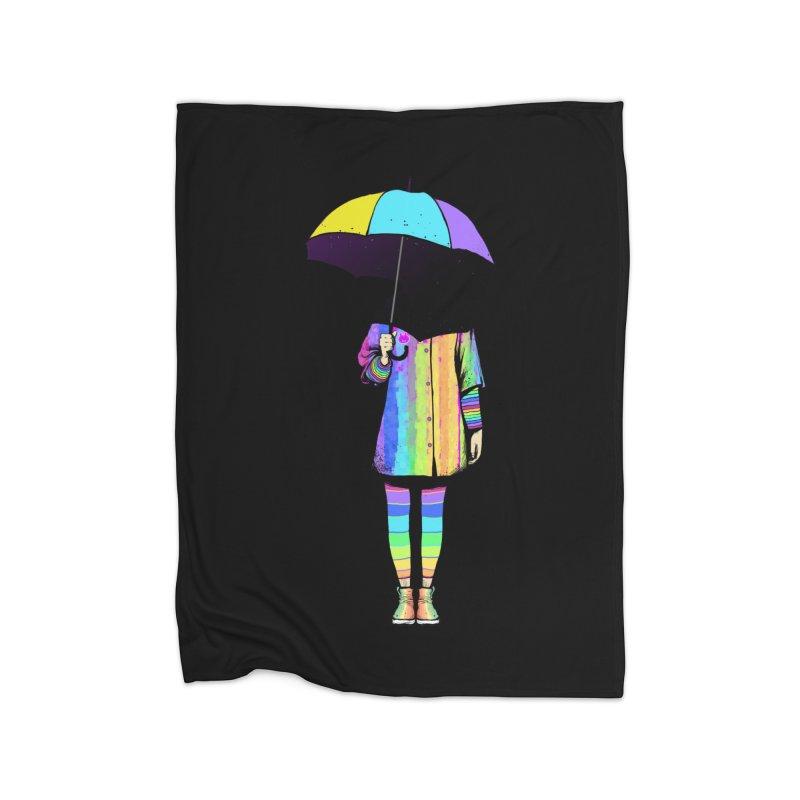 Neon Girl Home Blanket by ES427's Artist Shop