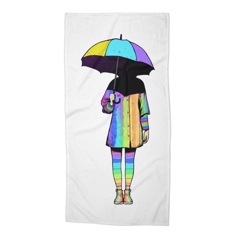 Neon Girl Accessories Beach Towel by ES427's Artist Shop