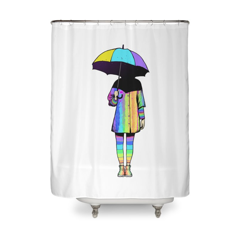 Neon Girl Home Shower Curtain by ES427's Artist Shop