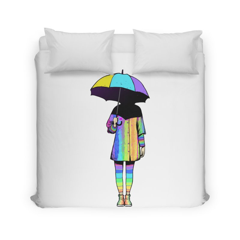 Neon Girl Home Duvet by ES427's Artist Shop