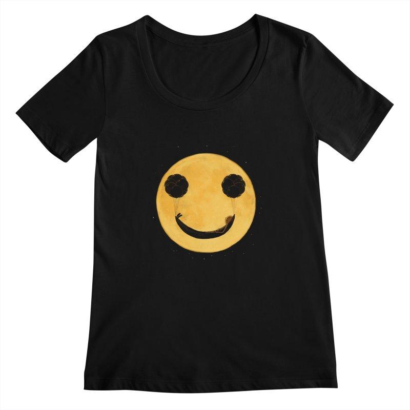 Smile :) Women's Scoopneck by ES427's Artist Shop