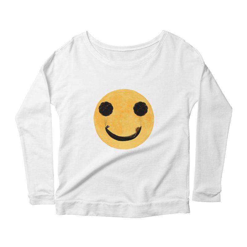 Smile :) Women's Longsleeve Scoopneck  by ES427's Artist Shop