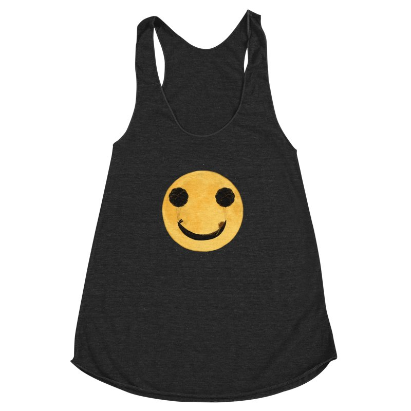 Smile :) Women's Racerback Triblend Tank by ES427's Artist Shop
