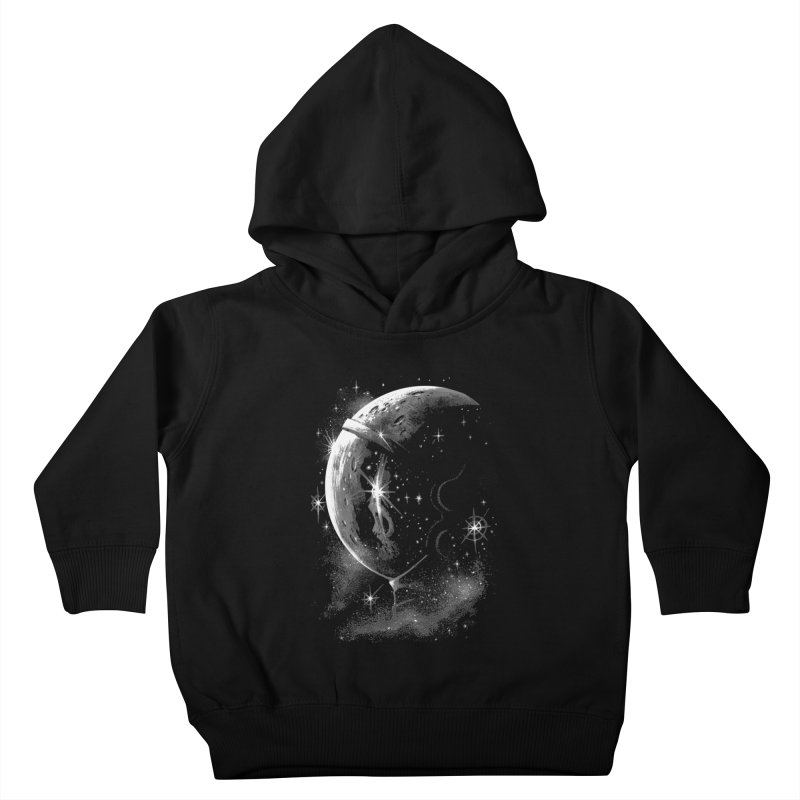 Lost in space B/W  Kids Toddler Pullover Hoody by ES427's Artist Shop
